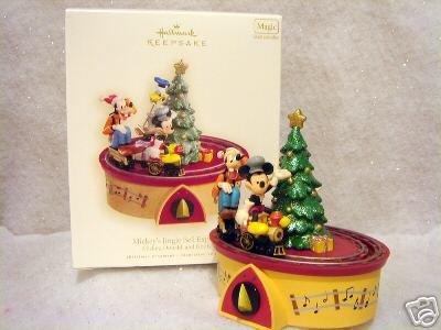 MICKEY'S JINGLE BELL EXPRESS~Hallmark 2007 Train Ornament~Movement~Sound