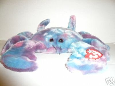 Ty DIGGER Crab~ Ty-Dyed Beanie Buddy Plush -Mint!