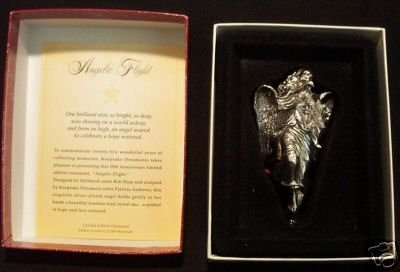1998 Hallmark ANGELIC FLIGHT Ornament~Silver~Crystal~Ltd Ed.~