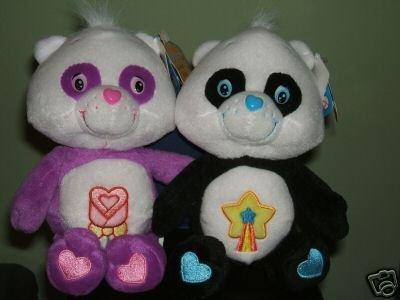 New! 2 Care Bears POLITE Panda & PERFECT Panda ~8