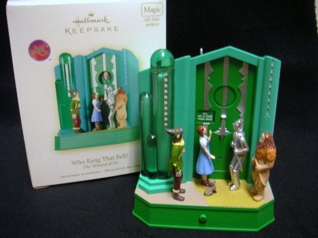 New! Hallmark WHO RANG THAT BELL? Wizard of Oz~Magic 2008 Christmas Ornament