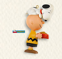 Hallmark 2008 SUPPERTIME~Peanuts~Snoopy~Charlie Brown~Limited Edition Christmas Ornament