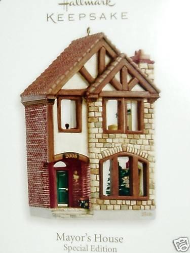 Hallmark MAYOR'S HOUSE~Nostalgic Shops ~Limited Edition 2008 Christmas Ornament