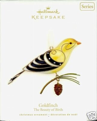 New! Hallmark GOLDFINCH~#4 Beauty of Birds 2008 Ornament Series