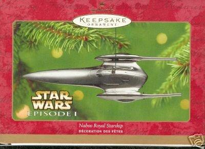 STAR WARS~Naboo Royal Starship~Hallmark 2001 Ornament