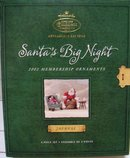 Hallmark 2002 Membership Kit~4 Ornaments~Mint~SANTA'S BIG NIGHT