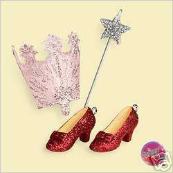 2006 Hallmark THE MAGIC OF GLINDA Good Witch~The Wizard Of Oz~Set of 3 Ornaments