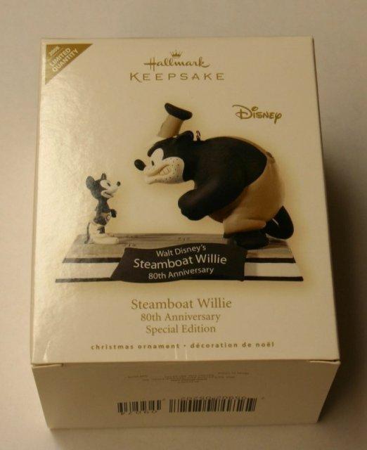STEAMBOAT WILLIE Disney~Hallmark 2008 Limited Edition Ornament~Anniversary