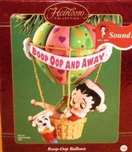 BETTY BOOP Carlton Ornament BOOP-OOP BALLOON with Sound~2002