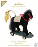 2008 Hallmark PONY FOR CHRISTMAS~Repaint/Colorway Limited Edition Ornament