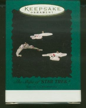 Hallmark 1995 THE SHIPS OF STAR TREK, set of  3 Ornaments