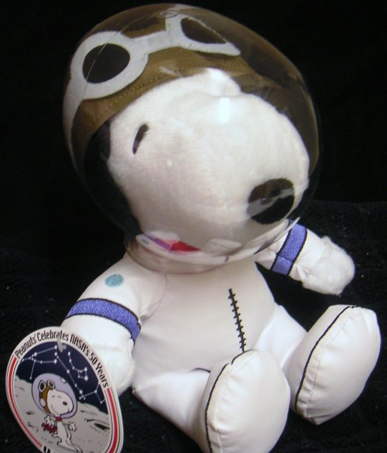 New! NASA SNOOPY Astronaut~Celebrates NASA's 50 Years~Plush 2008 Hallmark