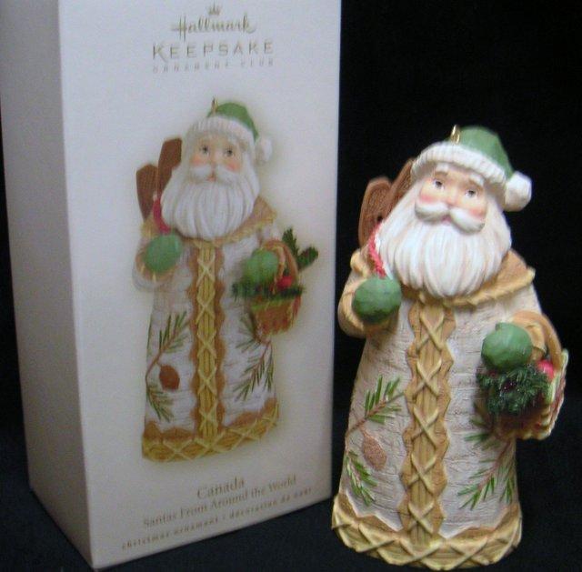 CANADA~Hallmark Santas From Around the World~2008 Club Exclusive Christmas Ornament