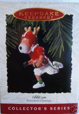 Hallmark 1993 Blitzen~8th Reindeer Champs Football Ornament