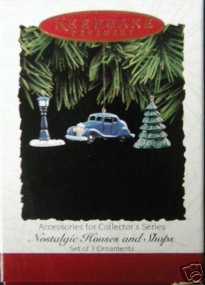 1995 Hallmark Ornament Nostalgic Houses and Shops~Set of 3 Accessories