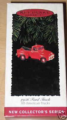 1995 Hallmark Ornament 1956 Ford Truck~Die-Cast
