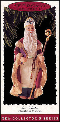 Hallmark 1995 St. Nicholas~1st in Christmas Visitors ornament Series