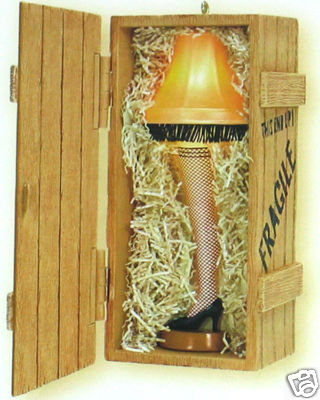 New! Hallmark~UNFORGETTABLE LEG LAMP~A Christmas Story 2008 Ornament~Lights/Sound