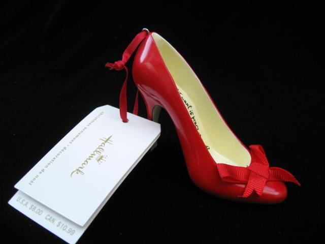 New! Hallmark Peace Red High Heel Shoe 2008 Christmas Ornament
