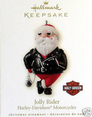 New Hallmark JOLLY RIDER: Harley-Davidson Motorcycles 2008 Ornament