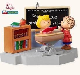 2008 Hallmark SCHOOL DAYS~The Peanuts Gang~ Sound Christmas ornament