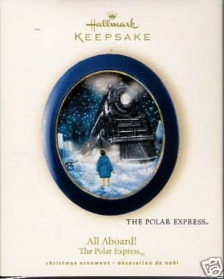 ALL ABOARD! Polar Express Lights 2008 Hallmark Ornament