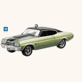 New! Hallmark 1970 CHEVROLET CHEVELLE SS~Die-cast 2008 Car Ornament