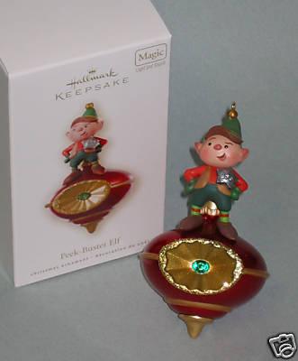 New! HALLMARK PEEK-BUSTER ELF Lights and Sound~Motion Sensor~2008 Christmas Ornament