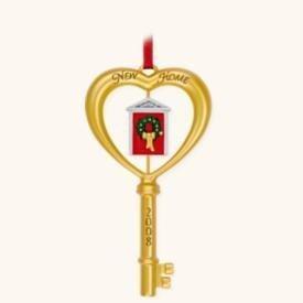New! 2008 HALLMARK~NEW HOME Key~Christmas Ornament