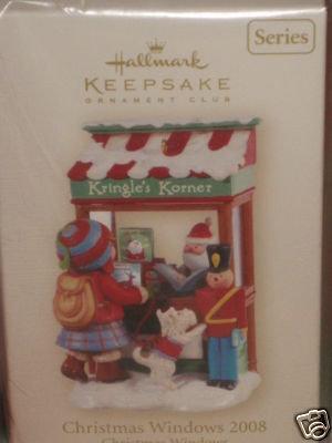 Hallmark CHRISTMAS WINDOW 2008~Club Ornament~Kringle's Korner~#6