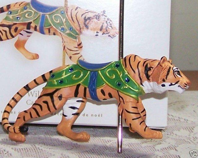 2008 Hallmark WILD TIGER Christmas Ornament~Carousel Ride Series