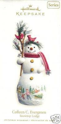 2007 Hallmark COLLEEN C. EVERGREEN~Porcelain Christmas Ornament~#3 Snowtop Lodge Series