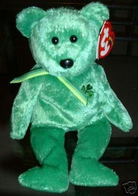 TY DUBLIN Beanie Baby Bear~NEW Irish St Patrick~March 16