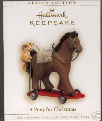 2006 Hallmark A PONY FOR CHRISTMAS Ornament #9
