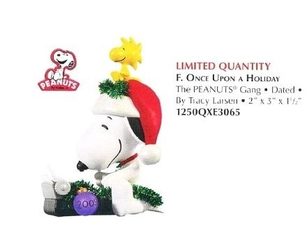 2009 Hallmark Snoopy ONCE UPON A HOLIDAY ~Christmas Ornament~Peanuts~Limited