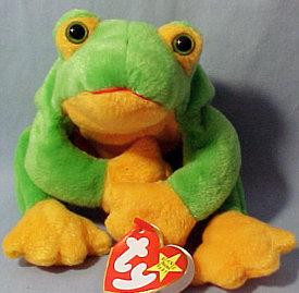 Ty SMOOCHY Beanie Baby Frog~New w/ Tags