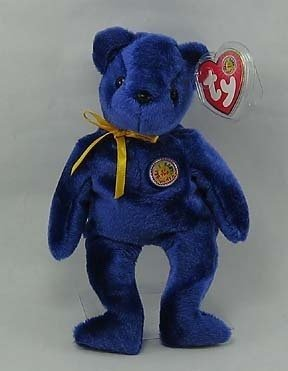 SAPPHIRE Ty Beanie Baby Bear~Beanie of the Month