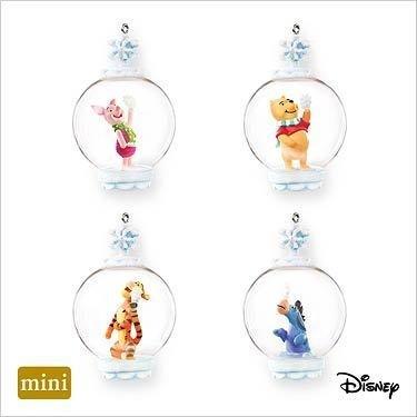 2007 Hallmark CATCHING SNOWFLAKES ~4 Christmas Ornaments~Disney~Pooh~Tigger~EEyore~Piglet