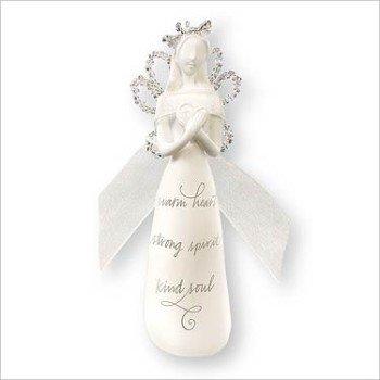 2007 Hallmark ANGEL WITH HEART ~Christmas PORCELAIN Ornament~