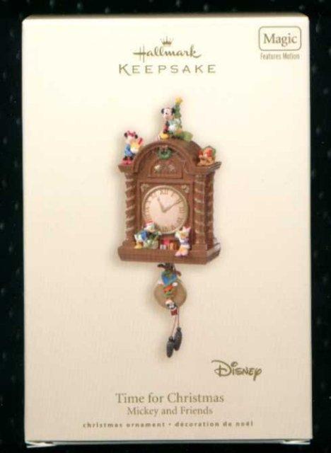 2007 Hallmark TIME FOR CHRISTMAS CLOCK ~Disney Mickey Mouse Ornament
