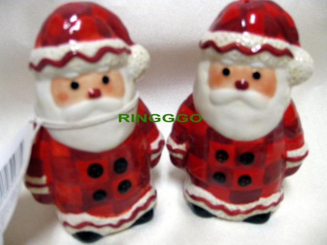 SANTA CLAUS SALT & PEPPER Shakers~NEW!