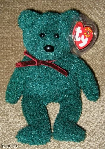 New Ty  2001 Holiday Teddy Beanie Baby Bear- Christmas