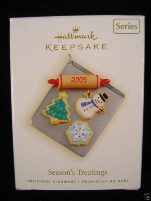 New! Hallmark SEASON'S TREATINGS 2009 Christmas Ornament~1st in series