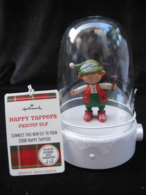 2009 Hallmark PAINTER ELF Happy Tappers~Musical