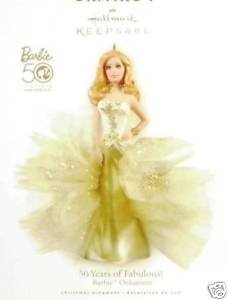 New! Hallmark 50 Years of Fabulous! BARBIE~Limited Ed. PORCELAIN Christmas Ornament 2009