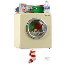 2009 Hallmark SANTA'S MERRY MACHINE(Washing Machine) MAGIC Christmas Ornament or for DOLLHOUSE