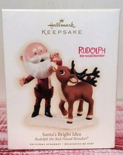 2009 Hallmark RUDOLPH Santa's Bright Idea ornament- NEW!