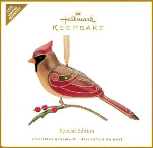 Hallmark 2010 LADY CARDINAL~Beauty of Birds~LIMITED Ed. Christmas Ornament