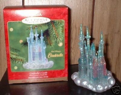 Hallmark 2001 Cinderella's Castle~ GLOWS~ Disney Christmas Ornament NEW!