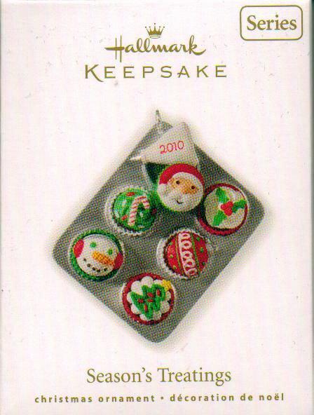 2010 Hallmark SEASON'S TREATINGS Christmas Cupcakes Ornament 2nd in series